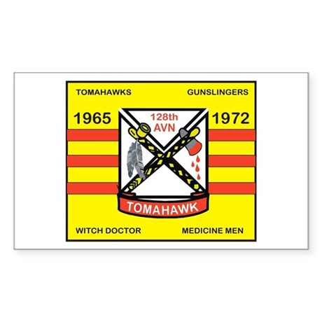 128th AVN TOMAHAWK Sticker (Rectangle)