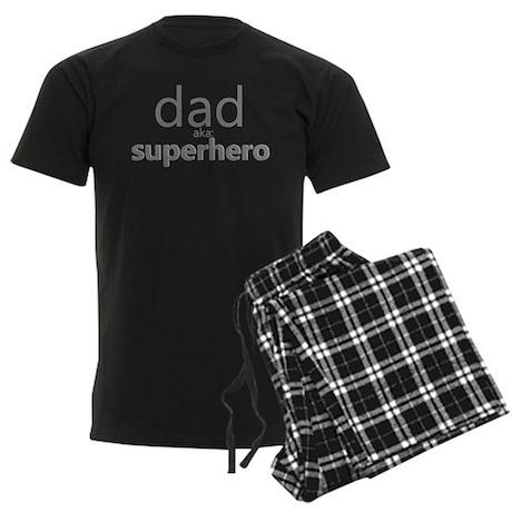 dad aka superhero Men's Dark Pajamas