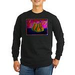 Three Pears Long Sleeve Dark T-Shirt