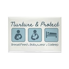 Cute Babywearing Rectangle Magnet (100 pack)