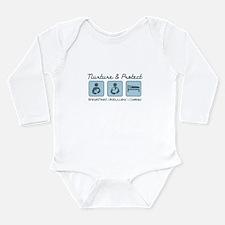 Babywearing Long Sleeve Infant Bodysuit