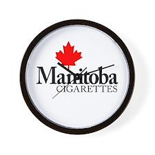 Manitoba Cigarettes Wall Clock