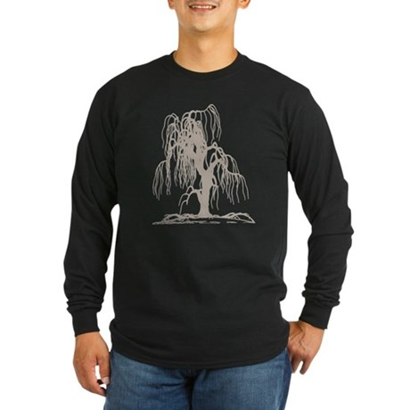Weeping Willow Tree Long Sleeve Dark T-Shirt