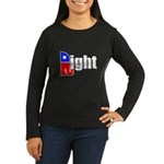 Republican Right White Women's Long Sleeve Dark T-