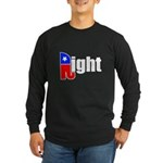 Republican Right White Long Sleeve Dark T-Shirt