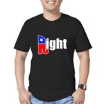 Republican Right White Men's Fitted T-Shirt (dark)