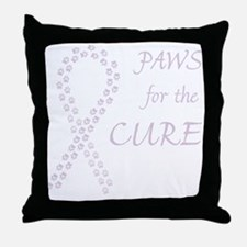 Orchid Paws Cure Throw Pillow