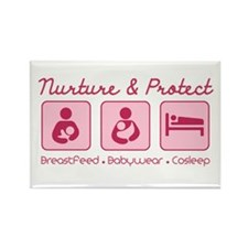 Funny Babywearing Rectangle Magnet (100 pack)