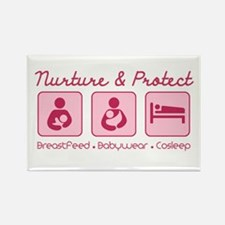 Unique Babywearing Rectangle Magnet (100 pack)