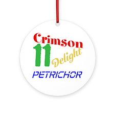 Crimson 11 Delight Petrichor Ornament (Round)