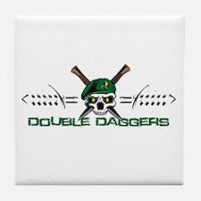 Double Daggers Tile Coaster