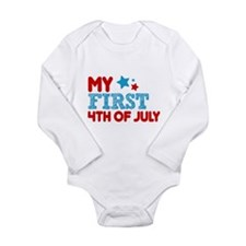My First 4th of July Long Sleeve Infant Bodysuit