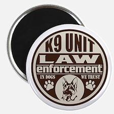 K9 In Dogs We Trust Dark Brown Magnet