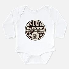 K9 In Dogs We Trust Da Long Sleeve Infant Bodysuit