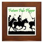 Future Polo Player Framed Tile