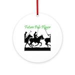 Future Polo Player Ornament (Round)