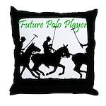 Future Polo Player Throw Pillow