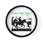 Future Polo Player Wall Clock