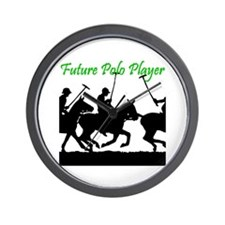 Future Polo Player Wall Clock