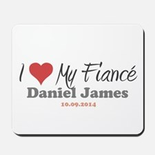I Heart My Fiancé Mousepad