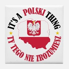 Polish Thing Tile Coaster