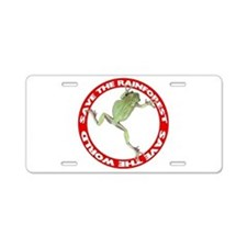 Save The Rainforest Aluminum License Plate