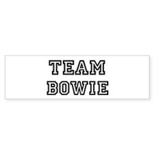 Team Bowie Bumper Car Sticker