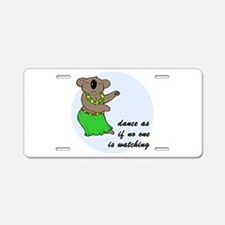 Dancing Koala Aluminum License Plate