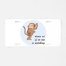 Dancing Monkey Aluminum License Plate