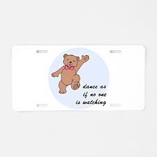 Dancing Bear Aluminum License Plate