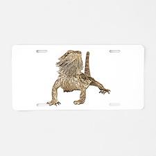 Bearded Dragon Photo Aluminum License Plate