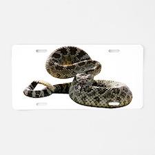Rattlesnake Photo Aluminum License Plate