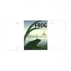 Graphic Frog Aluminum License Plate