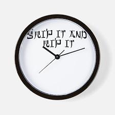 Disc Golf 2 Wall Clock