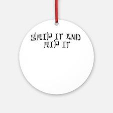 Disc Golf 2 Ornament (Round)