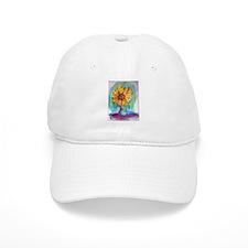 Sunflower, bright, fun, Baseball Cap