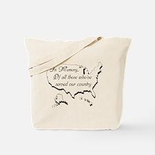 In Memory... Tote Bag