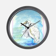 Egret, beautiful, bird art, Wall Clock