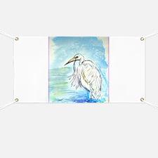Egret, beautiful, bird art, Banner