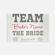 Personalized Team Bride Rectangle Magnet