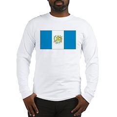 Guatemala Blank Flag Long Sleeve T-Shirt