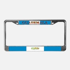 Guatemala Blank Flag License Plate Frame