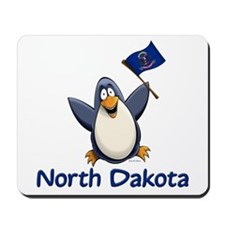North Dakota Penguin Mousepad