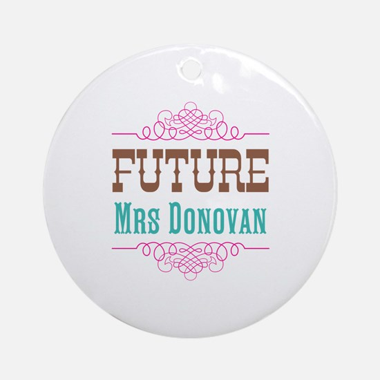 Pink Future Mrs Ornament (Round)