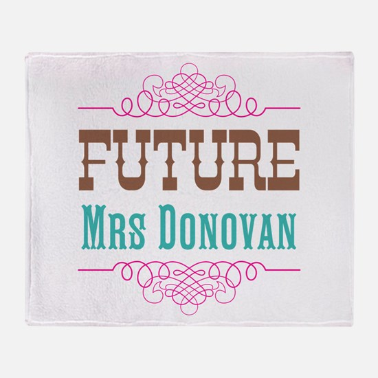 Pink Future Mrs Throw Blanket