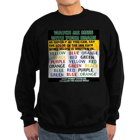 Color Illusion Stroop Effect Sweatshirt (dark)