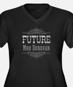 Personalized Future Mrs Women's Plus Size V-Neck D