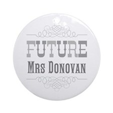 Personalized Future Mrs Ornament (Round)