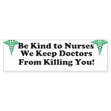 Be Kind Bumper Car Sticker