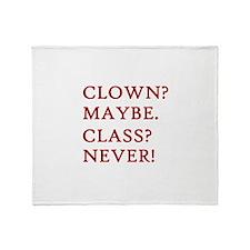 Clown? 2 Throw Blanket